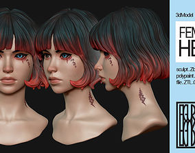 Female Anime Head-3-Akane 3D