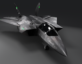 F AS-36 Vampire Next Generation Stealth Jet Fully 3D asset