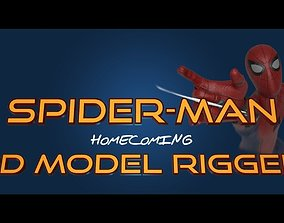 Spiderman Homecoming 3D model RIGGED rigged