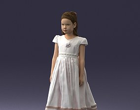 Girl in sundress 0204 3D Print Ready monochrome