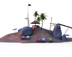 Beach - Little Island 3D model