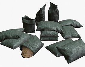 Military Sand Bags Assets 01 3D model