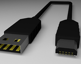 Micro USB charging cable 3D usb