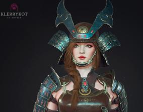 Samurai Girl 3D asset