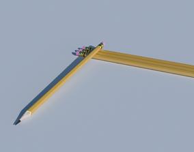 Pencil decorate 3D
