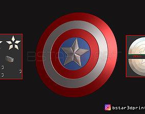 The captain America Shield - Infinity 3D printable model 4
