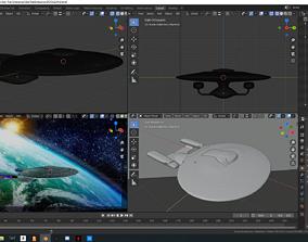 3D Model Star Trek Enterprise from The Next Generation TV