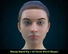 3D model Cinematic Female 004 - Mocap Body Rig - 2