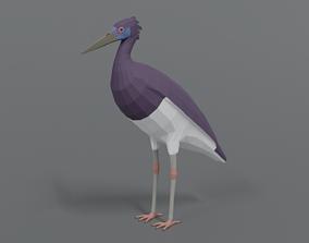 Low Poly Cartoon Abdim Stork 3D model