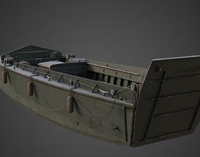 Higgins boat LCVP Realistic 3d Model rigged