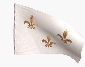 Royal French Flag 1789 3D asset