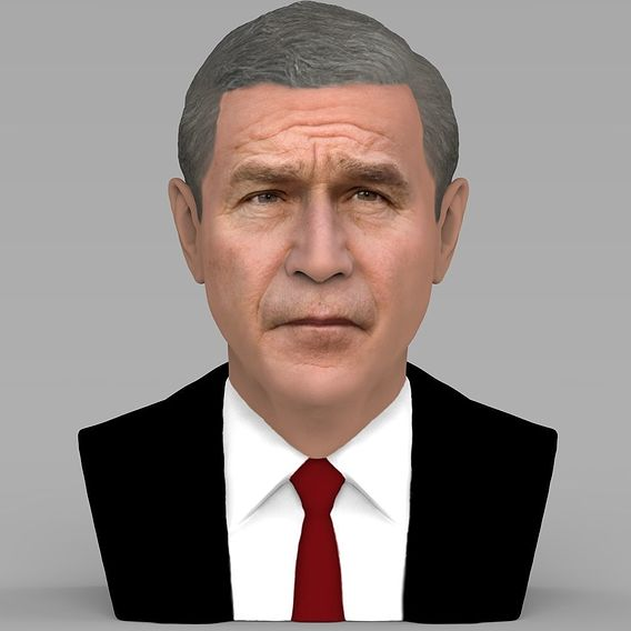 George W. Bush bust for 3D printing