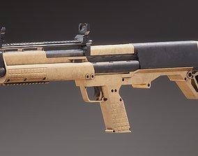 3D model low-poly Kal-Tec KSG PBR Rigged