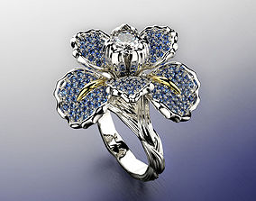 Iris fashion ring 0004 3D print model