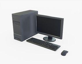 3D asset Generic Desktop Computer