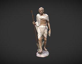 Ceramic Gandhi 3D model low-poly