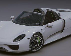 3D asset rigged Realistic Mobile Car 01 Porsche 918