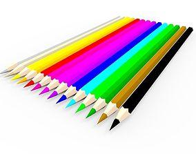 Coloring Pencils 3D model
