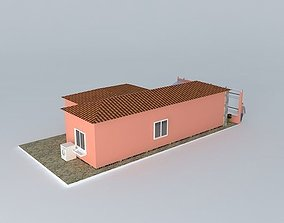 Colourful house with roof 3D