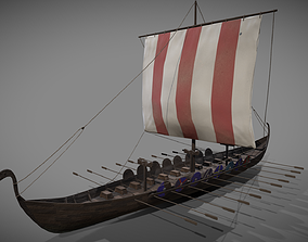 Viking long boat 3D model