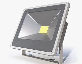 Floodlight 2 Low Poly 3D model
