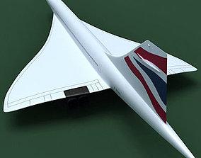 3D model Concorde British Airways