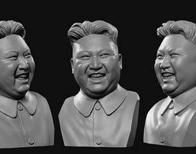 Kim Jong-UN 2 laughs 3D printable model