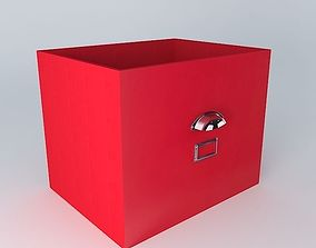 Red storage box TONIC houses the world 3D