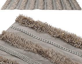 3D Shag rug with glitter
