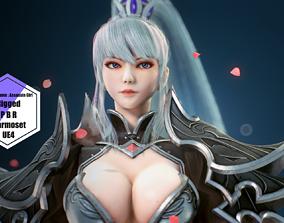 3D asset rigged game-ready PBR Assassin Girl