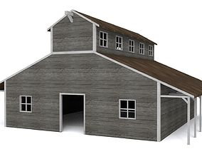 Stables 3D model low-poly