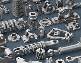 Hard Surface Mechanical Kitbash Volume 1 3D asset