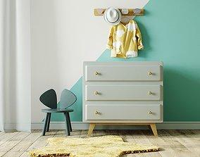 Baby dresser with decor by Maisons du Monde 3D