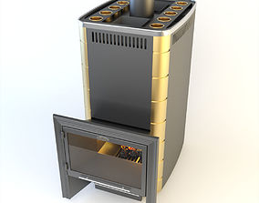 3D model SiberStove Business Class Wood-Burning Hot 2
