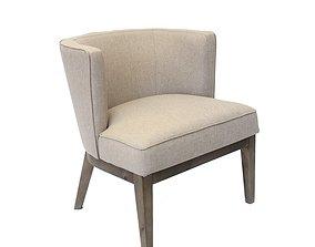 Barnard Wide Barrel Chair 3D