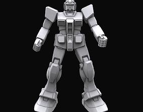 Gundam mobile suit MS RX78 model 3D