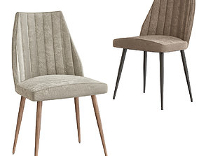 realtime Channel Back Leilani Dining Chairs 3d model