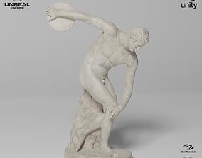The Discobolus Tivoli Sculpture VR AR 3D asset 1