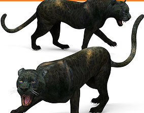 Black Panther Rigged And Animated 3D model