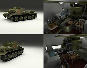 3D SU 100 with Interior