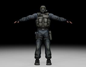 3D model Stalker - Mercenary 01