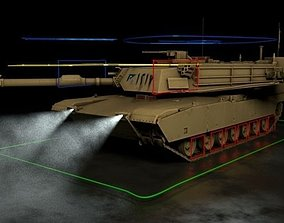 3D model M1 Abrams Tank Rigged