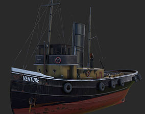 3D model VR / AR ready Tugboat