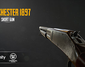 WINCHESTER 1897 3D asset realtime