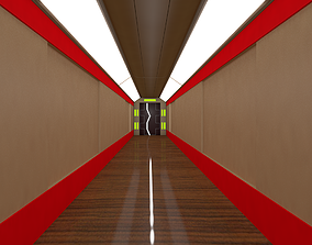 Sci Fi Corridor 3D asset realtime