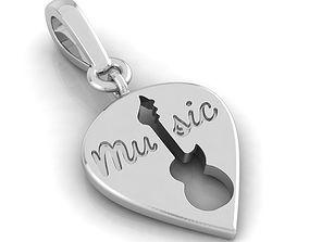 3D print model Musical Charm bracelet