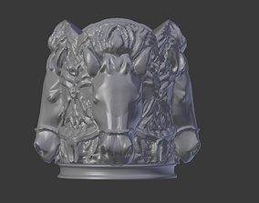 horse 3D printable model Horse Head Cigarette Holder