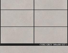 Yurtbay Seramik Core Grey 300x600 Set 1 3D model