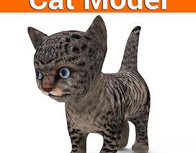 3D wild cat low poly VR / AR ready