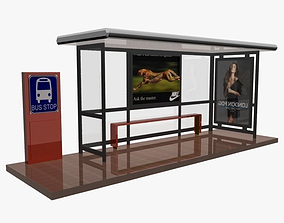 3D model Bus Stop Shelter 02